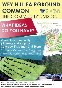 Wey Hill Fairground Community Ideas Workshop Poster
